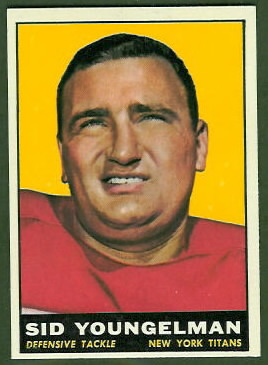 Sid Youngelman 1961 Topps football card