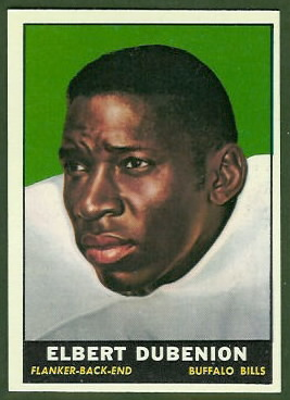 Elbert Dubenion 1961 Topps football card