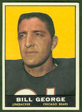 Bill George 1961 Topps football card
