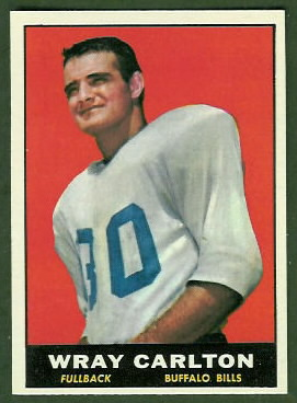 Wray Carlton 1961 Topps football card