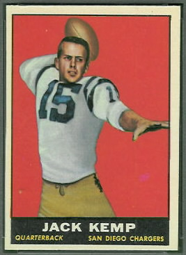 Jack Kemp 1961 Topps football card