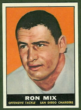 Ron Mix 1961 Topps football card