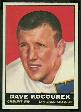 Dave Kocourek 1961 Topps football card
