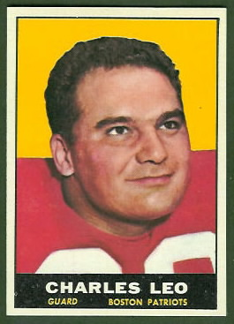 Charley Leo 1961 Topps football card