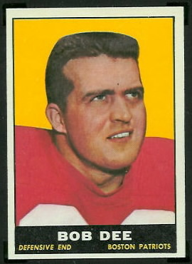 Bob Dee 1961 Topps football card
