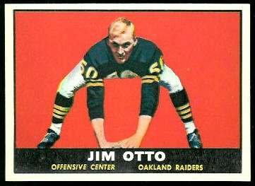 Jim Otto 1961 Topps football card