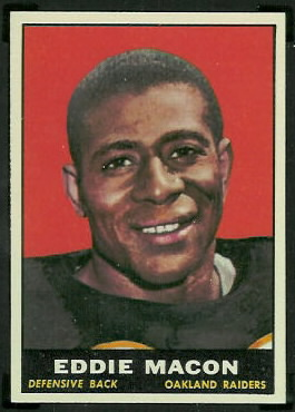 Eddie Macon 1961 Topps football card