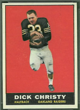 Dick Christy 1961 Topps football card