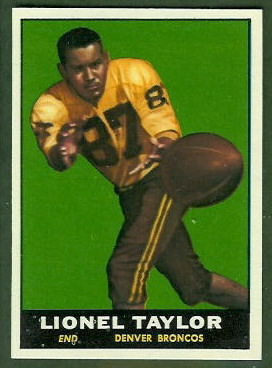 Lionel Taylor 1961 Topps football card
