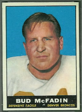Bud McFadin 1961 Topps football card