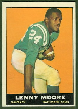 Lenny Moore 1961 Topps football card