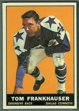 Tom Franckhauser 1961 Topps football card