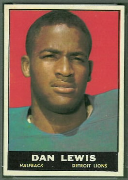 Dan Lewis 1961 Topps football card
