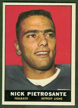Nick Pietrosante 1961 Topps football card