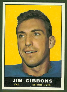 Jim Gibbons 1961 Topps football card