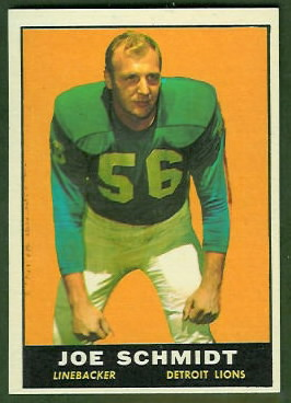 Joe Schmidt 1961 Topps football card