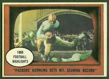 Paul Hornung Sets NFL Scoring Record 1961 Topps football card