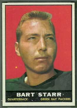 Bart Starr 1961 Topps football card