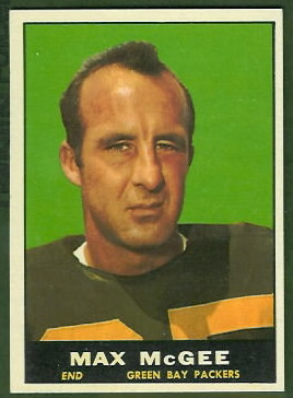Max McGee 1961 Topps football card