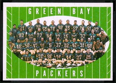 Green Bay Packers Team 1961 Topps football card