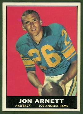 Jon Arnett 1961 Topps football card