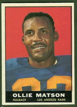 Ollie Matson 1961 Topps football card