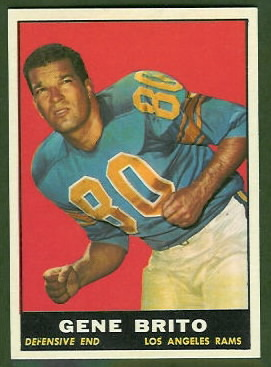 Gene Brito 1961 Topps football card