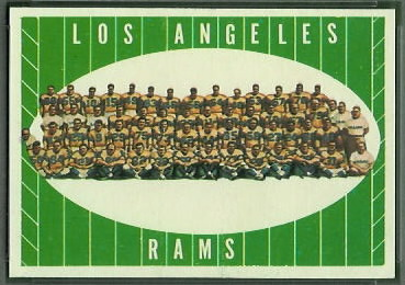 Los Angeles Rams Team 1961 Topps football card
