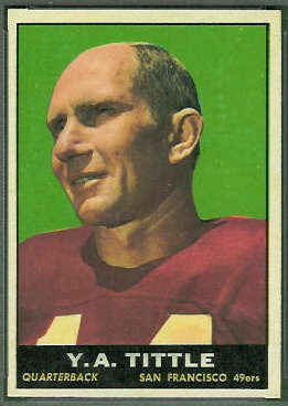 Y.A. Tittle 1961 Topps football card