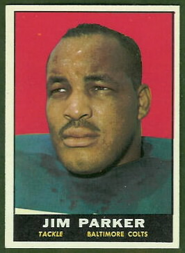Jim Parker 1961 Topps football card