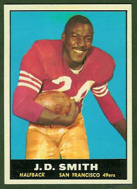 J.D. Smith 1961 Topps football card