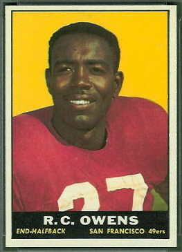R.C. Owens 1961 Topps football card