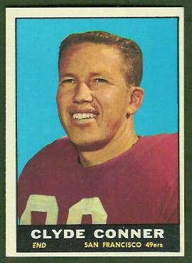 Clyde Conner 1961 Topps football card