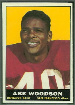 Abe Woodson 1961 Topps football card