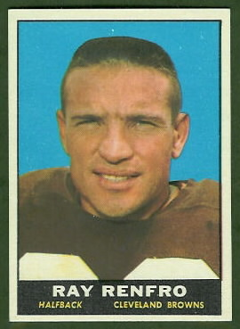 Ray Renfro 1961 Topps football card