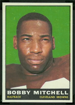 Bobby Mitchell 1961 Topps football card