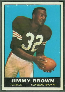Jim Brown 1961 Topps football card