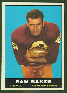 Sam Baker 1961 Topps football card