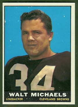 Walt Michaels 1961 Topps football card