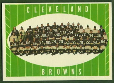 Cleveland Browns Team 1961 Topps football card