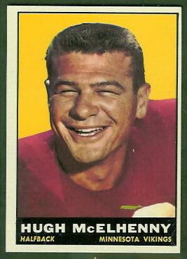 Hugh McElhenny 1961 Topps football card