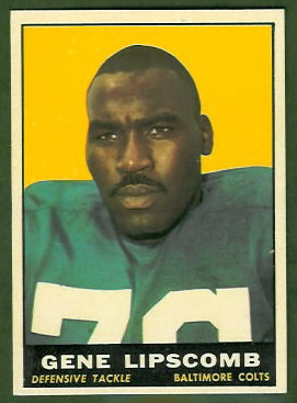 Gene Lipscomb 1961 Topps football card