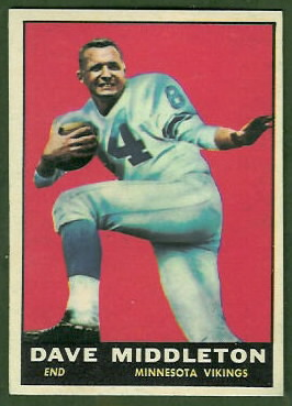 Dave Middleton 1961 Topps football card