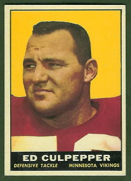Ed Culpepper 1961 Topps football card