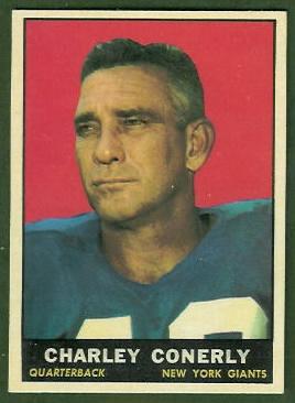 Charley Conerly 1961 Topps football card