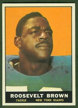 Roosevelt Brown 1961 Topps football card