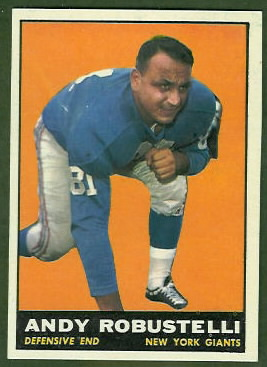 Andy Robustelli 1961 Topps football card
