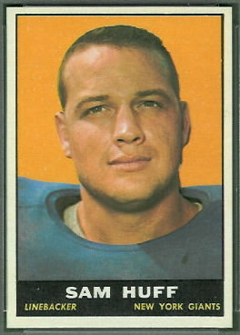 Sam Huff 1961 Topps football card
