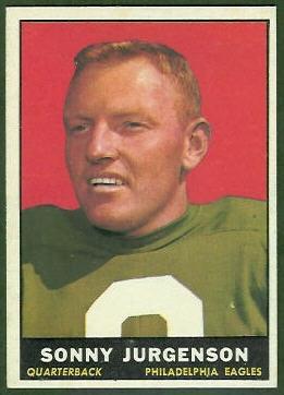 Sonny Jurgensen 1961 Topps football card