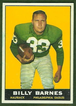 Bill Barnes 1961 Topps football card
